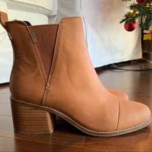 Toms Tan Leather Esme Boots